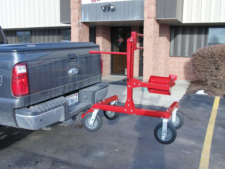 Large Diameter Hose Winder Truck Mount Ready Rack