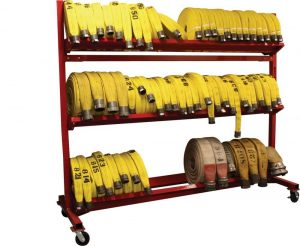 Mobile Hose Cart – 104″ Three Tier Unit