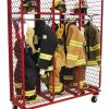 Mobile Red Rack – Single Sided – 20″ Compartments