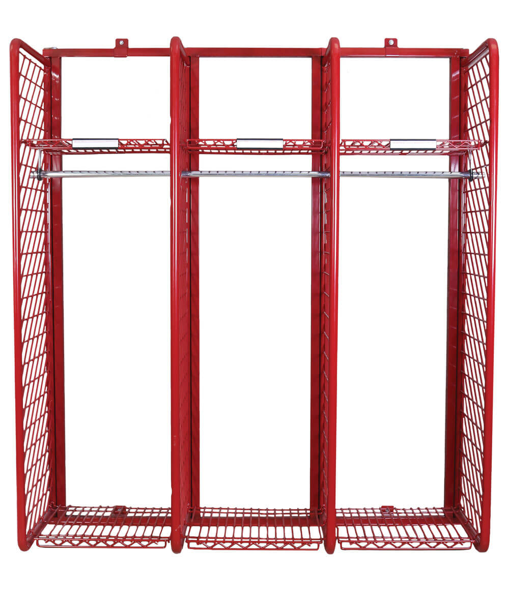 Wall Mounted Red Rack 18 Compartments Ready Rack